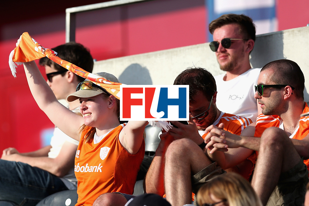 LONDON, ENGLAND - JUNE 17: Netherlands fans watch the action during the Hero Hockey World League Semi Final match between Scotland and Netherlands at Lee Valley Hockey and Tennis Centre on June 17, 2017 in London, England.  (Photo by Alex Morton/Getty Images)