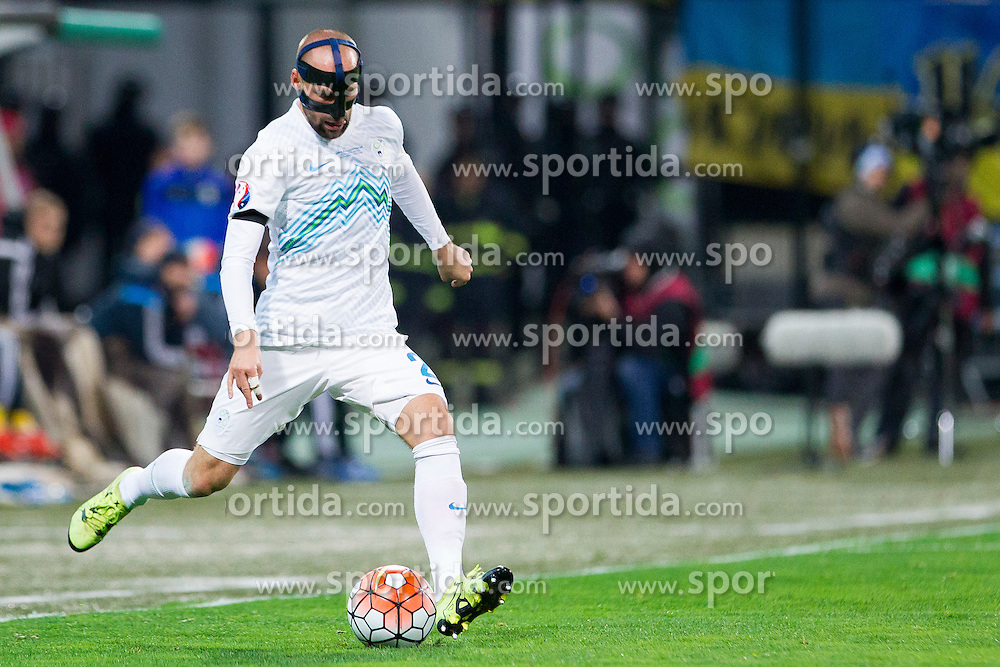 Miso Brecko (SLO) during the UEFA EURO 2016 Play-off for Final Tournament, Second leg between Slovenia and Ukraine, on November 17, 2015 in Stadium Ljudski vrt, Maribor, Slovenia. Photo by Urban Urbanc / Sportida