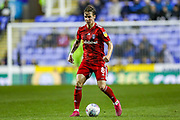 Fulham midfielder Stefan Johansen (8) on the ball during the EFL Sky Bet Championship match between Reading and Fulham at the Madejski Stadium, Reading, England on 1 October 2019.