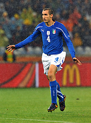 Football - soccer: FIFA World Cup South Africa 2010, Italy (ITA) - Paraguay (PRY), GIORGIO CHIELLINI
