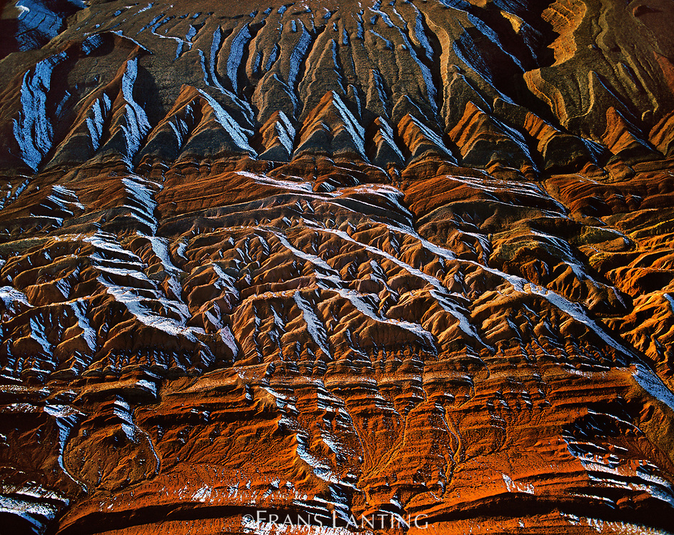 Erosion patterns (aerial), Comb Ridge, Utah