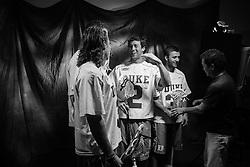 2013 May 24: Brendan Fowler #3, Luke Duprey #91, David Lawson #2 and Jordan Wolf #31 of the Duke Blue Devils during ESPN filming at Lincoln Financial Field in Philadelphia, PA.