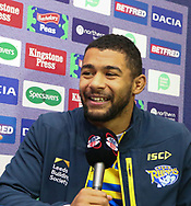 Kallum Watkins  (Captain) of Leeds Rhinos during the media launch for the Betfred Super League 2018 season at the John Smiths Stadium, Huddersfield<br /> Picture by Stephen Gaunt/Focus Images Ltd +447904 833202<br /> 25/01/2018