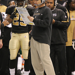 Jan 24, 2010; New Orleans, LA, USA; New Orleans Saints head coach on the sidelines against the Minnesota Vikings during the second quarter of the 2010 NFC Championship game at the Louisiana Superdome. Mandatory Credit: Derick E. Hingle-US PRESSWIRE