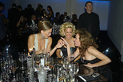 Bar Rafaeli, Vanessa Miedler and Caroline Gruosi-Scheufele. Amfar's Inaugural Cinema Against Aids. Spazio Etoile. Rome. 26 October 2007. SUPPLIED FOR ONE-TIME USE ONLY> DO NOT ARCHIVE. © Copyright Photograph by Dafydd Jones . 248 Clapham Rd. London SW9 0PZ. 0208 820 0771.  www.dafjones.com
