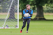 Forest Green Rovers goalkeeper, Jonny Maxted during the Forest Green Rovers Training at the Cirencester Agricultural College, Cirencester, United Kingdom on 12 July 2016. Photo by Shane Healey.