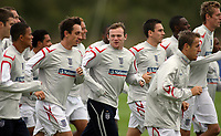 Photo: Paul Thomas.<br /> England Training. 06/10/2006.<br /> <br /> Wayne Rooney and England.