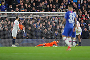 Lille goalkeeper Léo (1) makes a save during the Champions League match between Chelsea and Lille OSC at Stamford Bridge, London, England on 10 December 2019.#