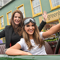 REPRO FREE<br /> Hope Hickey from Lockdown models and Cassandra O' Connell from The Blue Haven pictured in a 1926 Lagonda at the start of the Blue Haven Kinsale Vintage Rally on Saturday.<br /> Picture. John Allen<br /> <br /> Kinsale Vintage Rally Weekend 2017