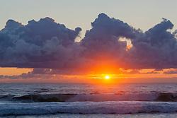 Sunrise at Coast Guard Beach on the Cape Cod National Seashore in Easthamm, Massachusetts.