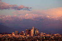 Sunset Clouds Over Downtown Los Angeles, California