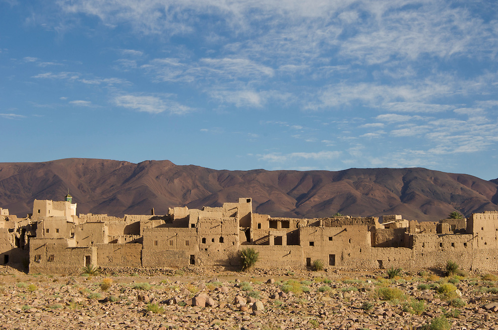 Kasbah of village near Agdz, Morocco