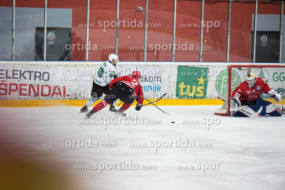 STOJAN Nejc during Alps League Ice Hockey match between HDD SIJ Jesenice and HK SZ Olimpija on December 20, 2019 in Ice Arena Podmezakla, Jesenice, Slovenia. Photo by Peter Podobnik / Sportida