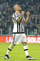 Esultanza Simone Zaza Juventus dopo gol 2-0, goal celebration,<br /> Torino 16-12-2015, Juventus Stadium, Football Calcio 2015/2016 Coppa Italia, derby, Juventus - Torino, Foto Filippo Alfero/Insidefoto