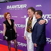 NLD/Amsterdam/20190415 - Filmpremiere première Baantjer het Begin, Kees van der Spek en partner Annabelle met Najib Amhali