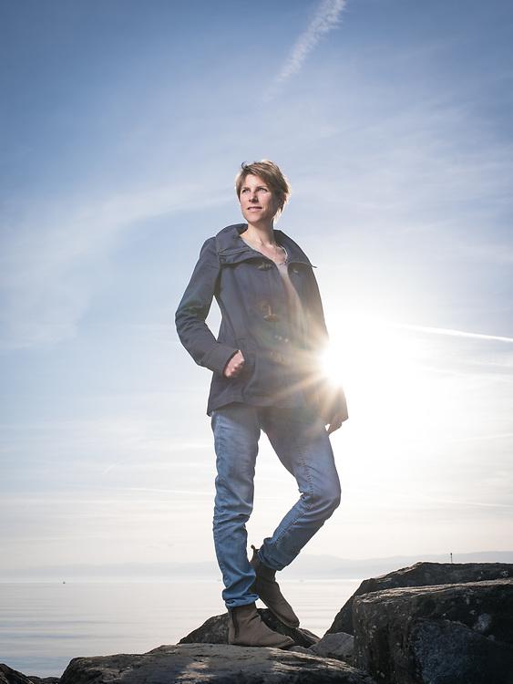 Anne-Sophie Subilia, écrivain. Pully, 29 mars 2017.