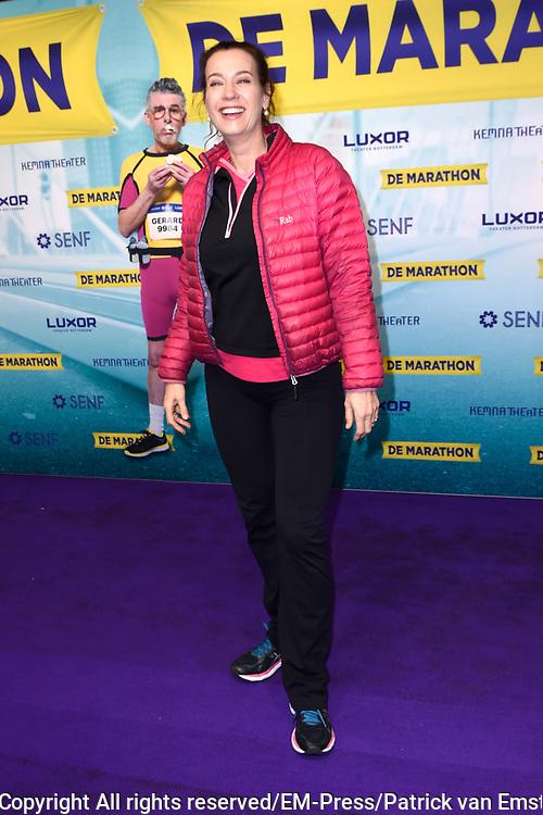 Premiere van de musical De Marathon in het nieuwe Luxor Theater, Rotterdam.<br /> <br /> Op de foto:  Marjolein Keuning