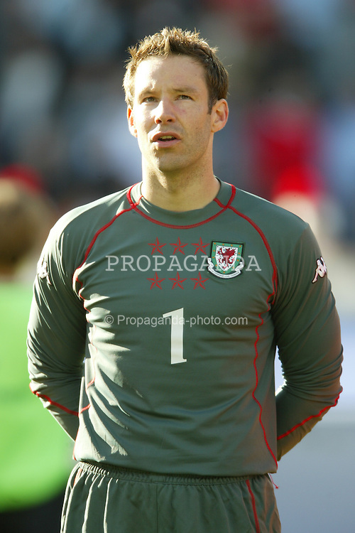 OSLO, NORWAY - Thursday, May 27, 2004:  Wales' goalkeeper Danny Coyne pictured before the International Friendly match at the Ullevaal Stadium, Oslo, Norway.. (Photo by David Rawcliffe/Propaganda)