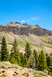 """""""Castle Peak 3"""" - Photograph of Castle Peak, a mountain in the Tahoe National Forest, near the Pacific Crest Trail."""