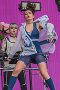 Charli XCX plays the Other Stage to an enthusiastic audience - The 2017 Glastonbury Festival, Worthy Farm. Glastonbury, 23 June 2017