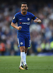 Chelsea's Pedro celebrates at full time
