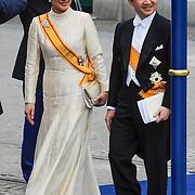 NLD/Amsterdam/20130430 - Inhuldiging Koning Willem - Alexander, prince K?taishi Naruhito Shinn? and partner princess Masako Owada of Japan