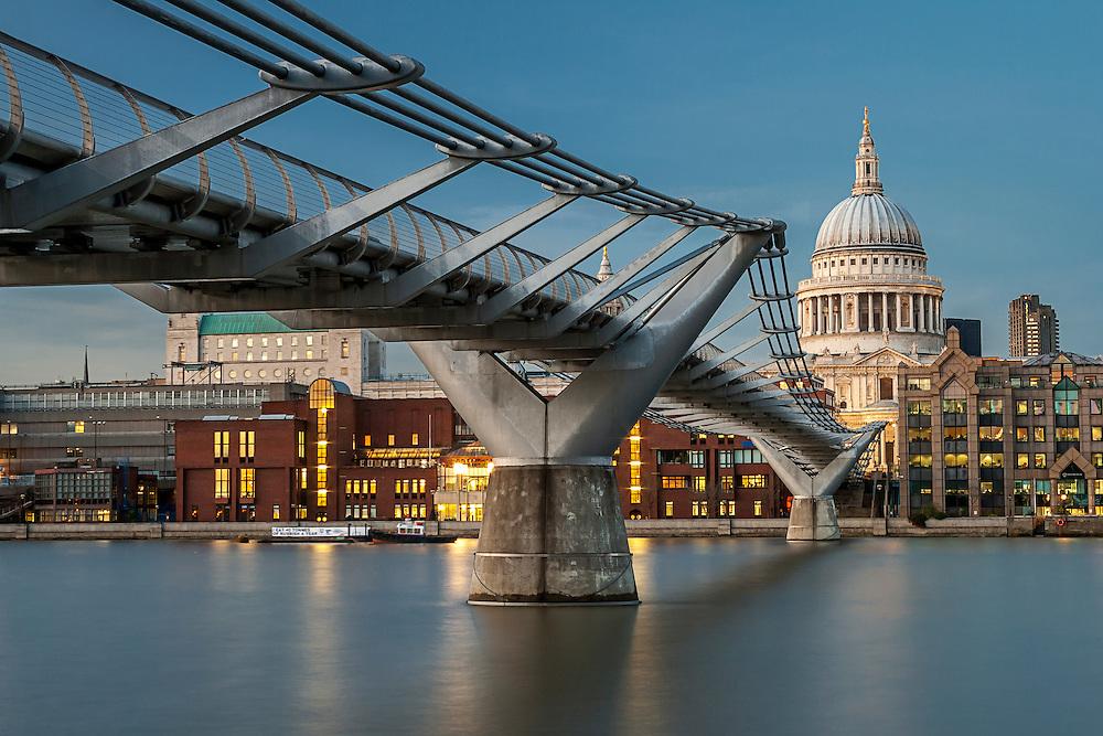 Millenium Bridge and  St Pauls Cathedral