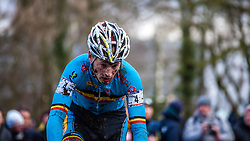 Kevin PAUWELS (4,BEL), 7th lap at Men UCI CX World Championships - Hoogerheide, The Netherlands - 2nd February 2014 - Photo by Pim Nijland / Peloton Photos