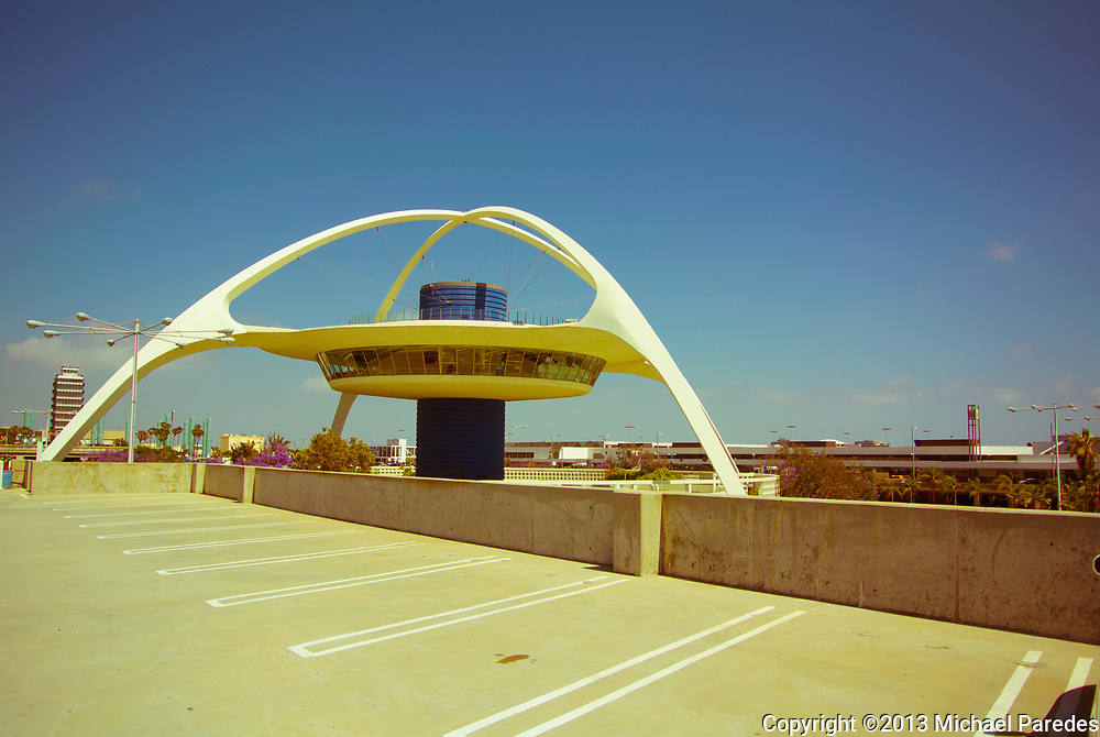 The concrete, space-age architecture of this iconic building remains the heart of Los Angeles International Airport