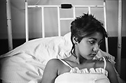 Kelly in Hospital, High Wycombe, UK, 1980s.
