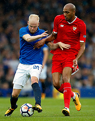 Davy Klaassen of Everton and Steven N'Zonzi of Sevilla - Mandatory by-line: Matt McNulty/JMP - 06/08/2017 - FOOTBALL - Goodison Park - Liverpool, England - Everton v Sevilla - Pre-season friendly