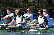 London, United kingdom.  Molesey Background left to right, Phil CONGDON Mo SBIHI and Fred GILL during the Pre 2014 Varsity Boat Race Fixture, Cambridge University BC vs Molesey Boat Club, over the Championship Course; Putney to Mortlake, River Thames, Greater London on Sunday  16/03/2014 [Mandatory Credit: Peter Spurrier/Intersport Images]