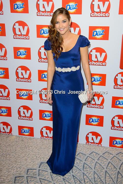 TV Choice Awards 2013 - London.<br /> Jacqueline Jossa arriving at the TV Choice Awards 2013, The Dorchester Hotel, London, United Kingdom. Monday, 9th September 2013. Picture by Chris  Joseph / i-Images