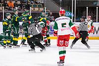 2019-12-02 | Umeå, Sweden:Little fight in  HockeyAllsvenskan during the game  between Björklöven and Mora at A3 Arena ( Photo by: Michael Lundström | Swe Press Photo )<br /> <br /> Keywords: Umeå, Hockey, HockeyAllsvenskan, A3 Arena, Björklöven, Mora, mlbm191202