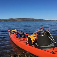 Steam operated kayak? A steamer to warm up tomales.