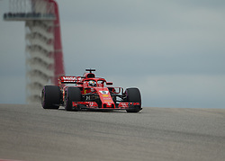 October 20, 2018 - Austin, USA - Scuderia Ferrari driver Sebastian Vettel (5) of Germany comes over the hill at Turn 10 during qualifying at the Formula 1 U.S. Grand Prix at the Circuit of the Americas in Austin, Texas on Saturday, Oct. 20, 2018. (Credit Image: © Scott Coleman/ZUMA Wire)
