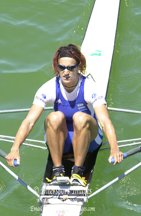 Peter Spurrier Sports  Photo.email pictures@rowingpics.com.Tel 44 (0) 7973 819 551.Tel/Fax 44 (0) 1784 440 772..FRA W1X Sophie Balmany 20010515 FISA World Cup, Seville, SPAIN