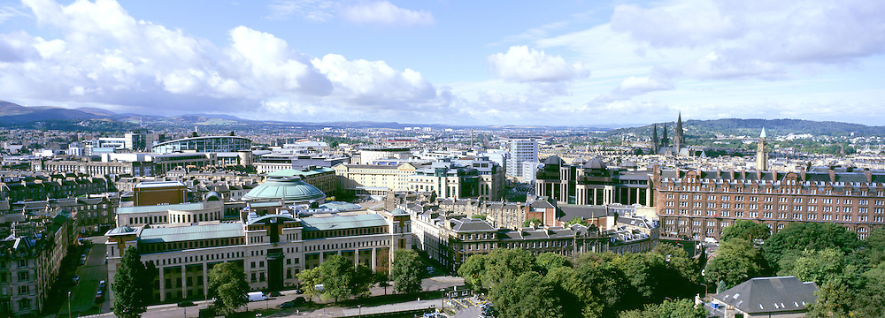 View overlooking Edinburgh's financial district