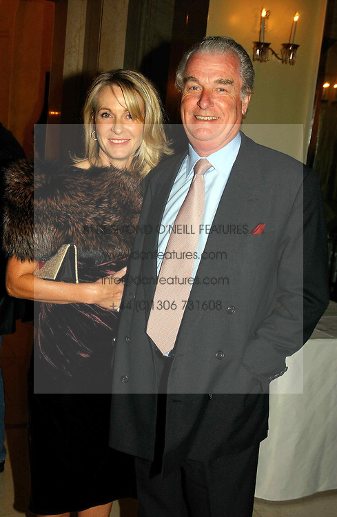 "LORD & LADY BELL at a party to celebrate the publication of Bruce Oldfield's autobiography ""Rootless"" held in aid of Crimestoppers at Claridge's, Brook Street, London W1 on 22nd September 2004.<br />