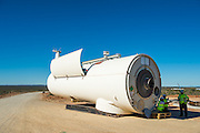 Nacelle Section of the Wind Turbine ready for erection