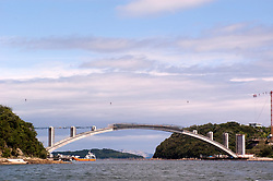 Construction of Kashirajima Bridge with concrete arch built using Melan technique in Japan