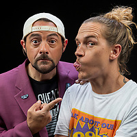 HOLD FOR WIRE. Kevin Smith, left, and Jason Mewes pose for a portrait at the Associated Press Los Angeles bureau on Wednesday, Sept. 25, 2019, in Los Angeles. (Photo by Willy Sanjuan/Invision/AP)