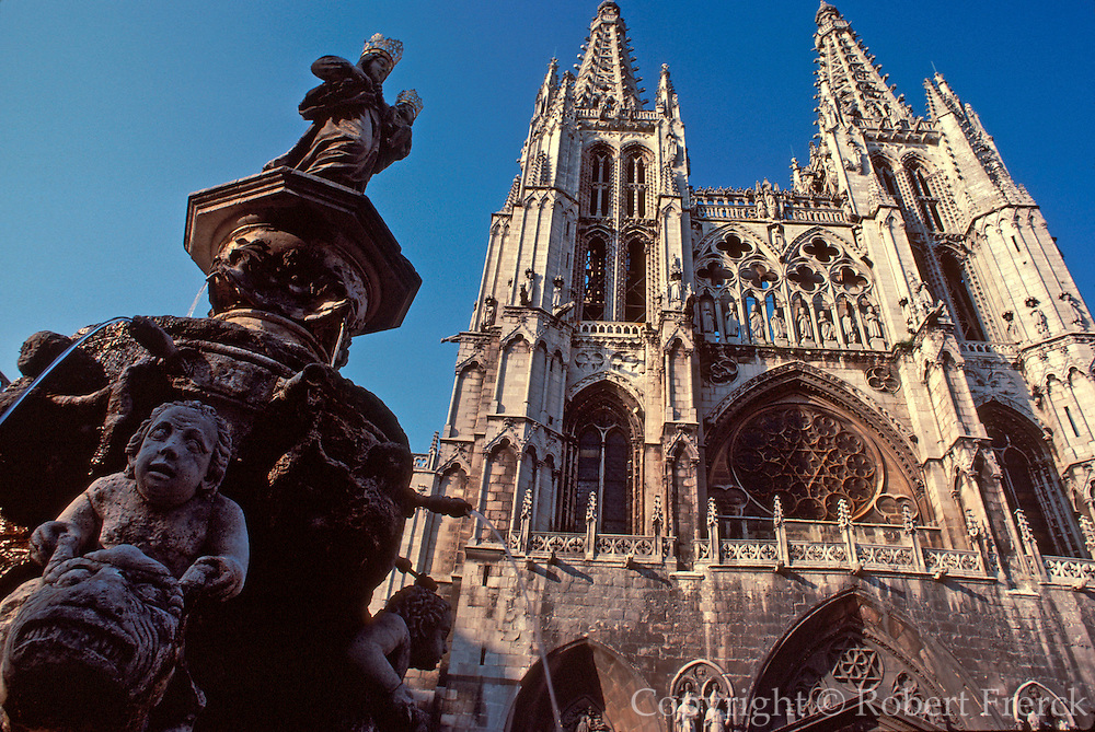 SPAIN, CASTILE, BURGOS Cathedral in French Gothic style