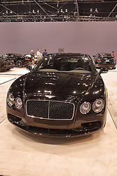 09 February 2017:  Bentley Flying Spur V8S<br /> <br /> First staged in 1901, the Chicago Auto Show is the largest auto show in North America and has been held more times than any other auto exposition on the continent.  It has been  presented by the Chicago Automobile Trade Association (CATA) since 1935.  It is held at McCormick Place, Chicago Illinois<br /> #CAS17