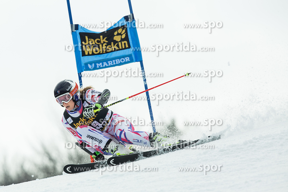 Anne-Sophie Barthet (FRA)competes during 7th Ladies' Giant slalom at 52nd Golden Fox - Maribor of Audi FIS Ski World Cup 2015/16, on January 30, 2016 in Pohorje, Maribor, Slovenia. Photo by Vid Ponikvar / Sportida