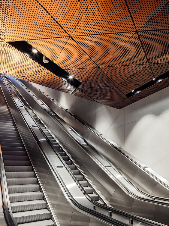 Otaniemi metro station (under construction) designed by ALA architects in Espoo, Finland