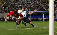 Photo: Paul Thomas.<br /> Sporting Lisbon v Manchester United. UEFA Champions League Group F. 19/09/2007.<br /> <br /> Cristiano Ronaldo of Utd scores.
