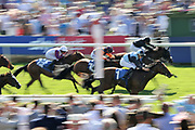 ALLIGATOR ALLEY (1) ridden by Donnacha O'Brien and trained by Joseph Patrick O'Brien (IRE) winning The Listed Julia Graves Roses Stakes over 7f (£70,000)   during the Ebor Festival at York Racecourse, York, United Kingdom on 24 August 2019.