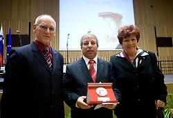 Miroslav Cerar, Slavko Cener and Zdenka Cerar at 45th Awards of Stanko Bloudek for sports achievements in Slovenia in year 2009, on February 9, 2010, Brdo pri Kranju, Slovenia.  (Photo by Vid Ponikvar / Sportida)