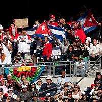 15 March 2009: Fans of Cuba sheer for their team against Japan during the 2009 World Baseball Classic Pool 1 game 1 at Petco Park in San Diego, California, USA. Japan wins 6-0 over Cuba.